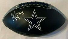 Michael Gallup Autographed Full Size Dallas Cowboys Black Football Tristar Holo