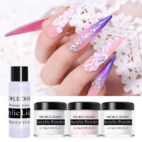 4Boxes NICOLE DIARY Acrylic Powder Liquid Kit Gel Tips Extend Builder Nail Art