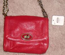 BRAND NEW FOSSIL COLETTE MINI BAG SCARLET LEATHER FREE SHIPPING