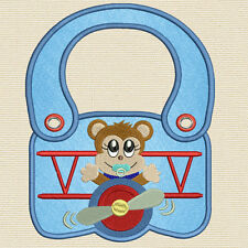 Completely made in the hoop Boy's Baby Bibs 5X 7 Hoop)Machine embroidery designs