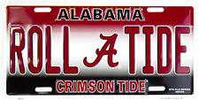 Alabama Crimson Tide Roll Tide License Plate Sign Car Truch Auto Made in the USA