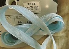 """1/2"""" DOUBLE FACE VELVET RIBBON - 85% RAYON - MADE IN JAPAN -LIGHT BLUE"""