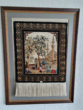 Mit Zertifikat Hereke Korhan Figural 47 cm x 40 cm Seide auf Seide Teppich
