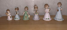 Vintage 1982 6 Enesco Growing Up Birthday Girls Figurines Ages 1 through 6