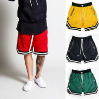 2019 Men Casual Loose Shorts Mesh Breathable Gym Fitness Basketball Short Pants