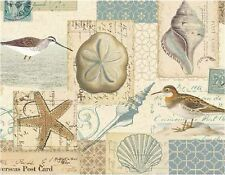 BIRD SEASHELL STARFISH  MOUSE PAD  IMAGE FABRIC TOP RUBBER BACKED