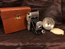 Polaroid Land Camera Model 80 w/ flash adapter and orange filter~ 1950's