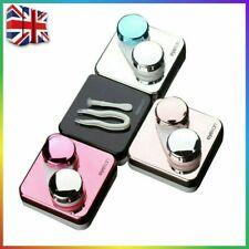 Lentes de contacto de mano estuche de plástico estilo caja de almacenamiento Ojos Pestañas Herramienta de contenedores Reino Unido