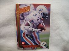 1991 Action Packed Football Aaron Craver #27 - Miami Dolphins Rookie card