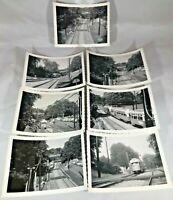 7 Seven Boston Park Street Riverside Trolley Line Vintage Photographs
