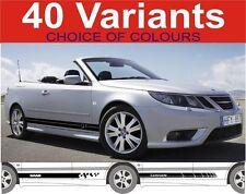 Saab Side Stripe Decals Fit Saab 93 95 900 9000 Turbo Stickers