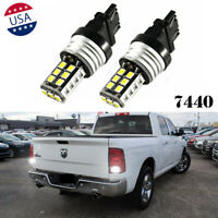 6000K 7440 White LED Backup Reserve Light Bulbs For 2013-19 Ram 1500 2500 3500
