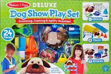 Melissa & Doug Deluxe 24 Piece Dog Show Play Set New