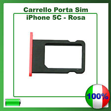 SLOT PORTA SIM TRAY PORTA SCHEDA VASSOIO PER APPLE IPHONE 5C ROSA PINK