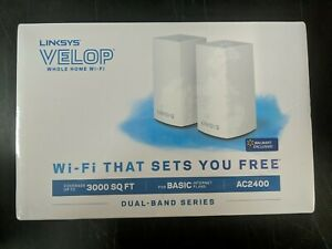 Linksys Velop AC2400 Intelligent Mesh Dual-Band Whole Home Wi-Fi VLP0102-NP - CR
