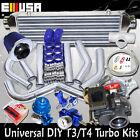 "DIY Universal Turbo Kits T3/T4 w Internal Wastegate+ Intercooler+2.5"" Piping Kit"