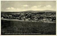 1936 BENNECKENSTEIN Harz Panorama Gesamtansicht alte AK nach Flöha gelaufen