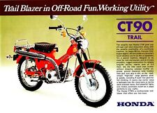 1977 HONDA CT90K8 Farmbike 2 page Motorcycle Brochure NOS