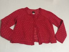 Tea Collection Size 6 Red Hearts Cardigan Sweater