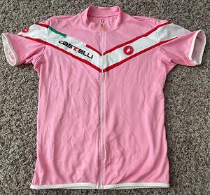 Womens Castelli Pink XL Full Zip Cycling Jersey