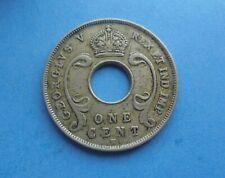 East Africa & Uganda, One Cent 1912H, Scarce, Fair Condition.