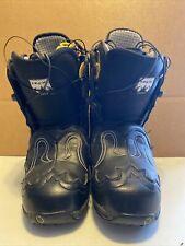 BURTON Women's IROC Black Synthetic Leather SNOWBOARD BOOTS / 8.5