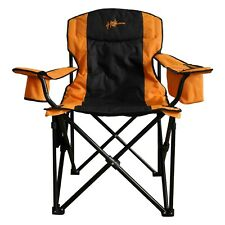 Heated Outdoor Folding Chair & Portable Power Pack for Camping, Fishing, Sports