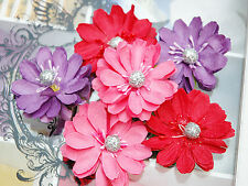 RAZZLES - PINK RED PURPLE - 2 x 3 Each Flowers PAPER 50-55mm MH ConB