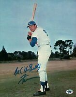 Al (The Bull) Ferrara Signed 8X10 Photo Autograph Dodgers Field Two Line Left