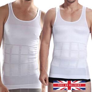 Mens Slimming Vest Breathable Belly Shapewear Waist Slimming Compression Shirt