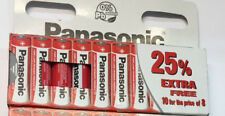 10 X Pilas Aa Zinc Carbono Panasonic 1.5 V LR6 MX1500 MN1500 Reino Unido Vendedo...
