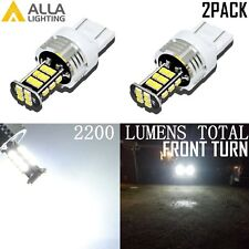 Alla Lighting 6000K 7443 30-LED Front Turn Signal Lights Blinker Bulb Lamp,White