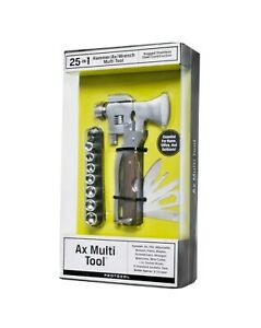 Protocol 25-in-1 Emergency Axe Hammer Wrench Screwdriver Multi Tool New