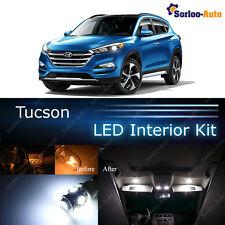 6x Xenon White LED Lights Interior Package Kit for 2017 Hyundai Tucson + Gift