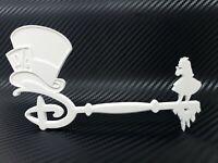 Disney Alice In Wonderland Key Mad Hatter & Alice 3D Print Custom - White