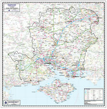 HAMPSHIRE COUNTY WALL MAP - LAMINATED MAP - COUNTY MAP OF HAMPSHIRE