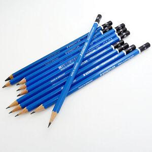 20 Sizes Blue Barrel Staedtler Mars Lumograph Drawing Sketching Pencil Set