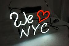 "WE LOVE NEW YORK NYC Home Room Lamp Sofa LED Bike Harley NEON Light Sign 10""x10"""