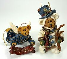 New ListingBoyds Bear Collection Ornaments 25731 Angelbrite, 25729 Snowbearski & Boxes