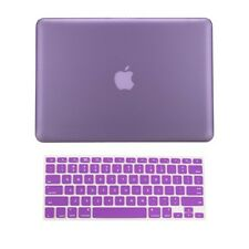 "2in1 PURPLE Rubberized Case for Macbook Pro 13"" A1425 Retina display+Key Cover"