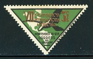 URUGUAY MH Selections: Scott #447 3c 7th Pan American Conference Triangle CV$2+
