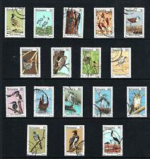 1978 Botswana birds definitive set of 17 Used