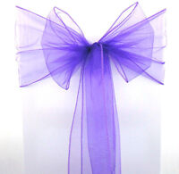Lilac Organza Chair Cover Sashes Bow Wedding/Party Reception 20x275cm Quality