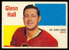 1960 61 TOPPS HOCKEY #25 Glenn Hall EX+ Cond Chicago Black Hawks Card