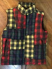 Comme des Garcons SHIRT Padded Patchwork Plaid Puffer Vest (Large)