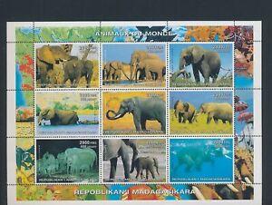 XC95198 Madagascar elephants animals wildlife XXL sheet MNH