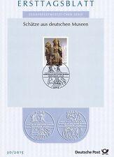 BRD 2015: Tilman-Riemenschneider-Skulptur! Ersttagsblatt der Nr. 3180! 1607