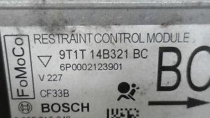 Ford Connectez Bj09 Unité Airbag Airbags Unité Cher 9T1T-14B321-BC 0285010348