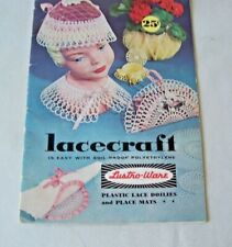 Lacecraft - Lustri Ware Plastic Lace Doilies &Placemats Craft Pattern Book 1960