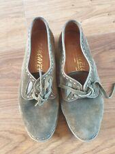 Beautiful Khaki Leather Shoes VGC Size 5 Carcavelos Portuguese Boho Earth